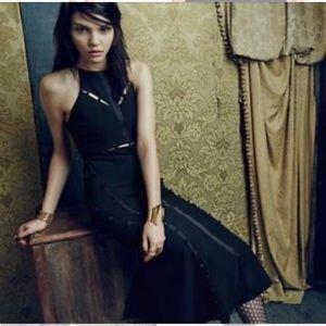 Cinq a Sept Black Shaik Midi Dress